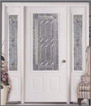 Picture of a white entry door unit.