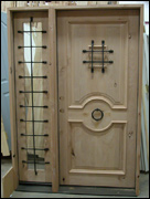 Rustic Unfinished Entry Unit With Sidelite