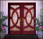 Mahogany Doors with Glass and Polished Zinc Caming (IWP)