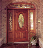 Classic-Craft Door with Sidelites and Transom (ThermaTru)