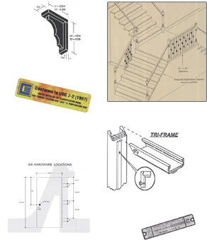 Different kinds of products that we sell. This includes doors, jambs, hardware, etc.